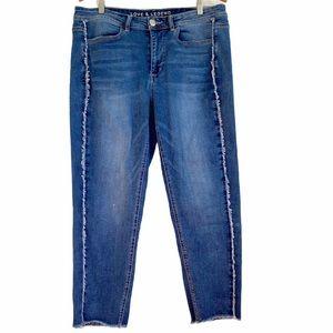 Love & Legend Cropped High Rise Skinny Jean